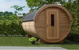 Thermowood Barrelsauna 46mm houtdikte